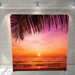 Sunset Paradise Backdrop